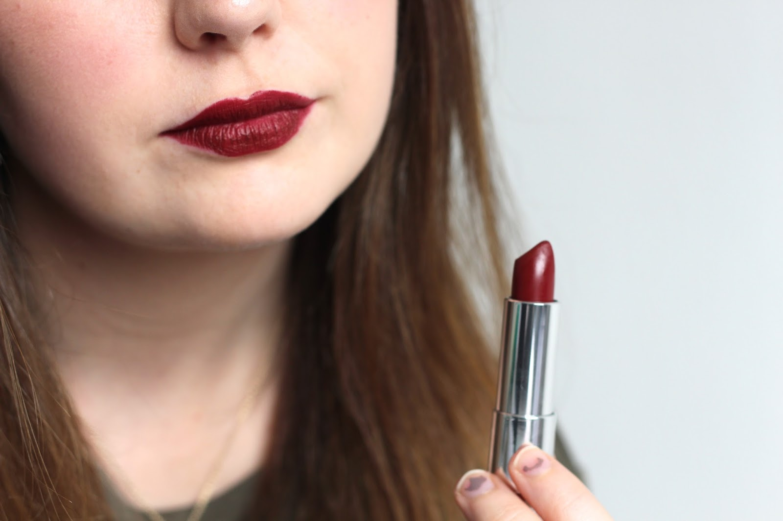 Maybelline Creamy Matte Lipstick in Divine Wine | Review