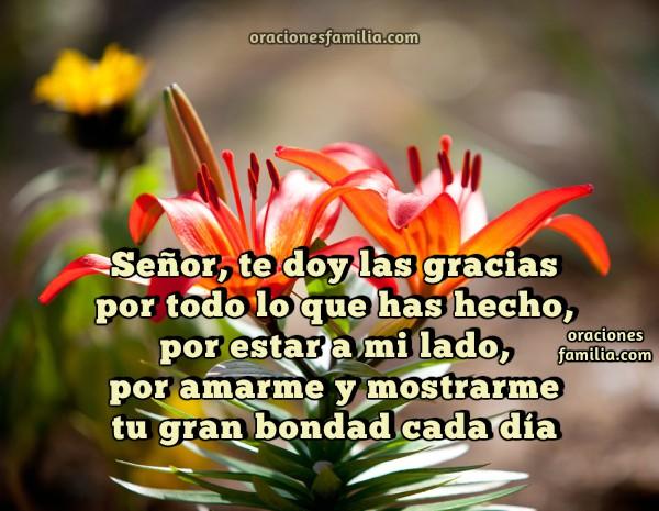 Oración de acción de gracias, buenos días, oración de la mañana, tarde por Mery Bracho
