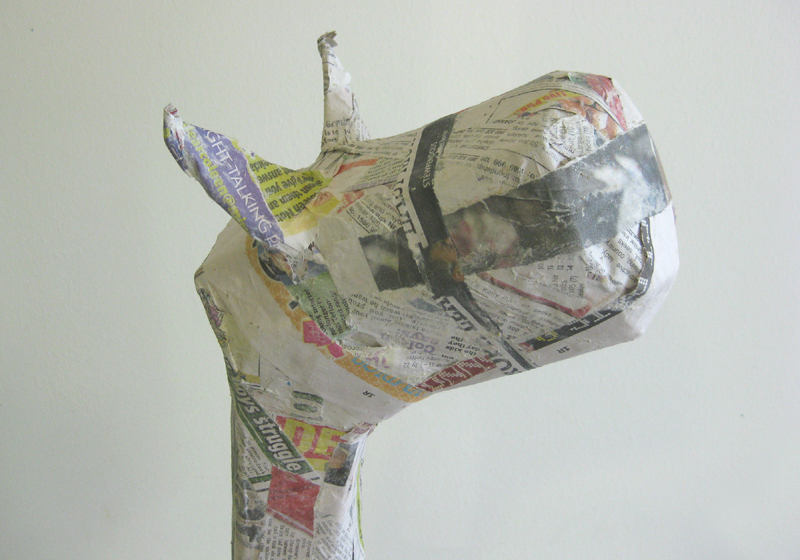Six0six design craft tutorial 4 paper mache animals for Making paper mache animals
