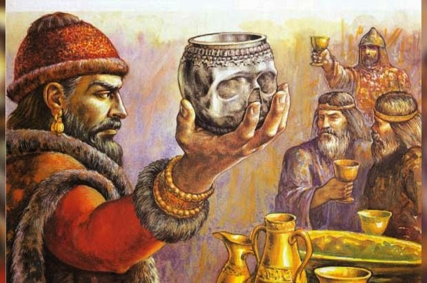 Главата на НИкифор е направена на чаша