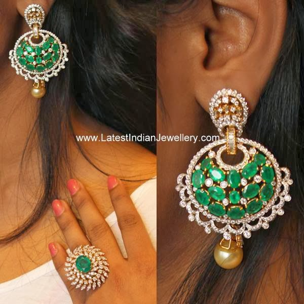 Party Wear Diamond Earrings