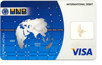 HNB Debit Card and Paypal