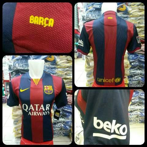gambar terbaru asli photo Jersey Barcelona home official terbaru musim 2014/2015