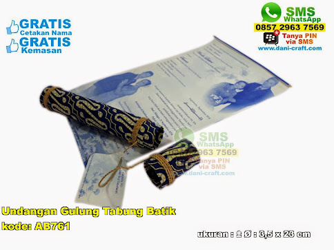 Undangan Gulung Tabung Batik