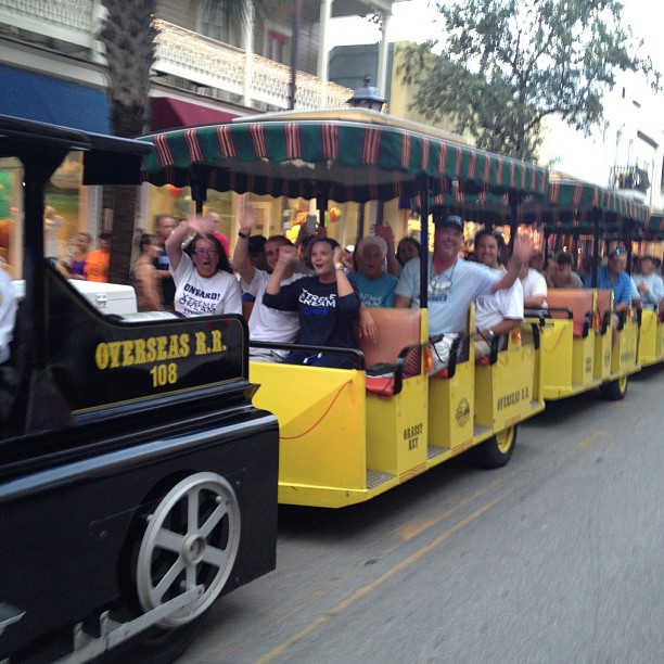 XTreme Dream team members rode the Conch Tour Train behind Diana and Bonnie. photo courtesy Diana Nyad