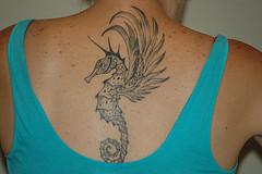 Seahorse Neck Tattoos