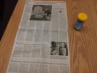 sheet of newspaper