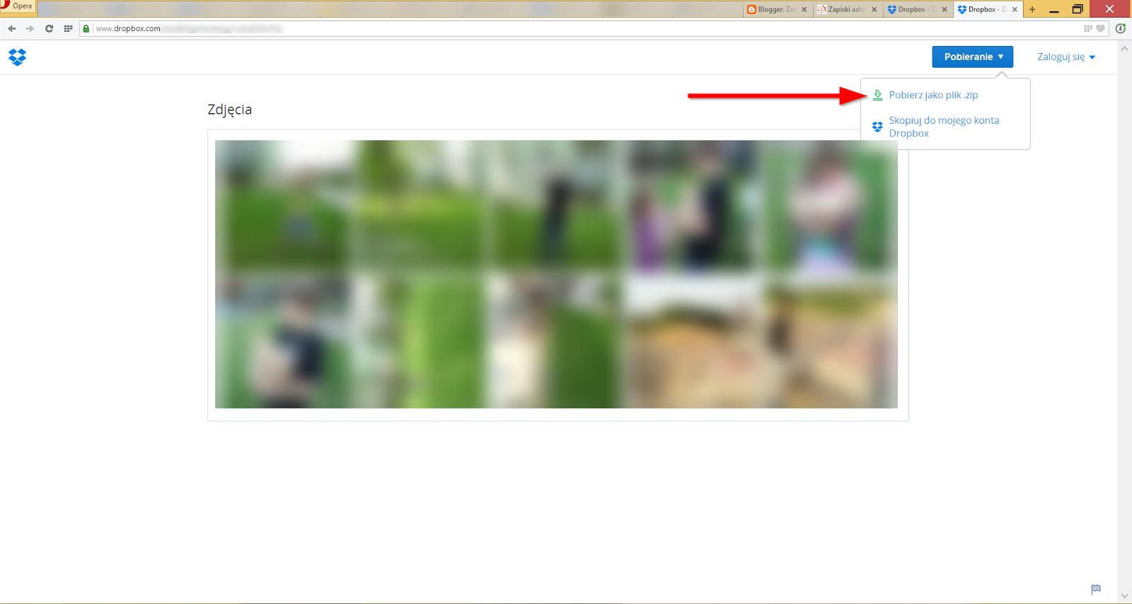 Strona WWW z udostępnionymi przez nas zdjęciami. Dane wrażliwe zostały zamazane :)