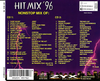 Hit mix 39 96 2cd set 41 original artists non stop mix for 90s house hits