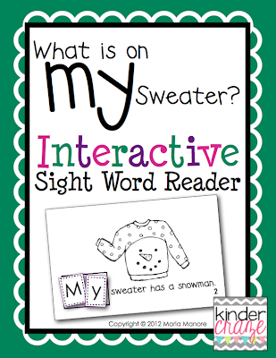 "winter-themed emergent reader for sight word ""my"""