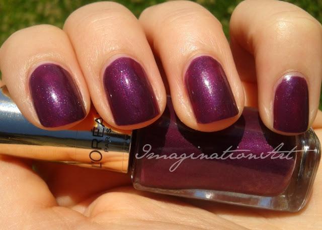 l'oreal swatches swatch 505 wild viole smalto viola nail polish lacquer unghie