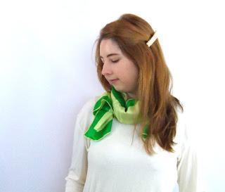 Foxburrow Vintage Spring green scarf