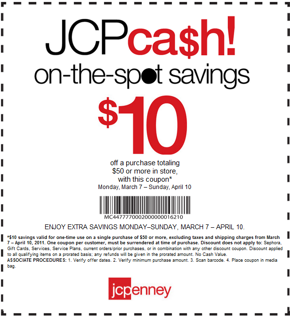 Jcpenney 10 off 25 coupon code