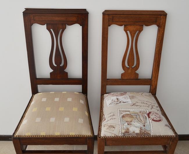 Las sillas de mi bisabuela renovadas vero palazzo - Como tapizar sillas antiguas ...