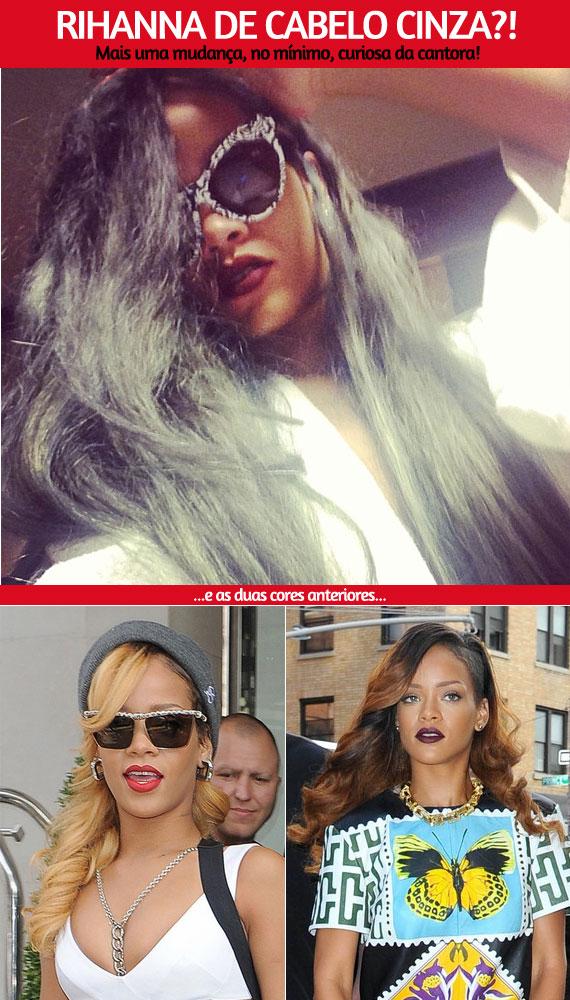 Moda E Jovem Rihanna De Cabelo Cinza