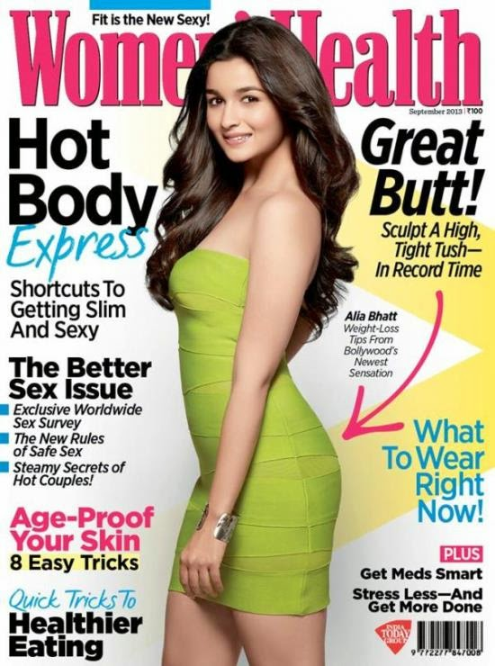 Alia Bhatt Women's Health 2013 Magazine Hot Photoshoot
