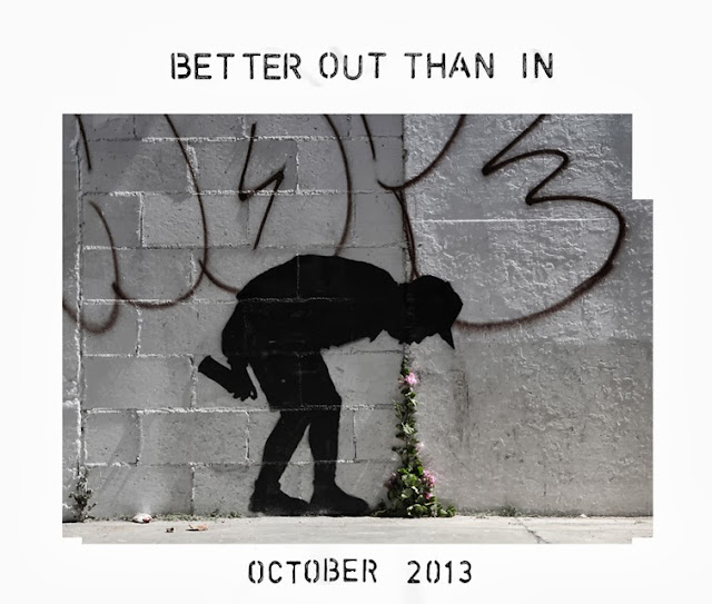 "New Street Art Piece By Banksy Somewhere In The World - Dubbed ""Better Out Than In"" October 2013 2"