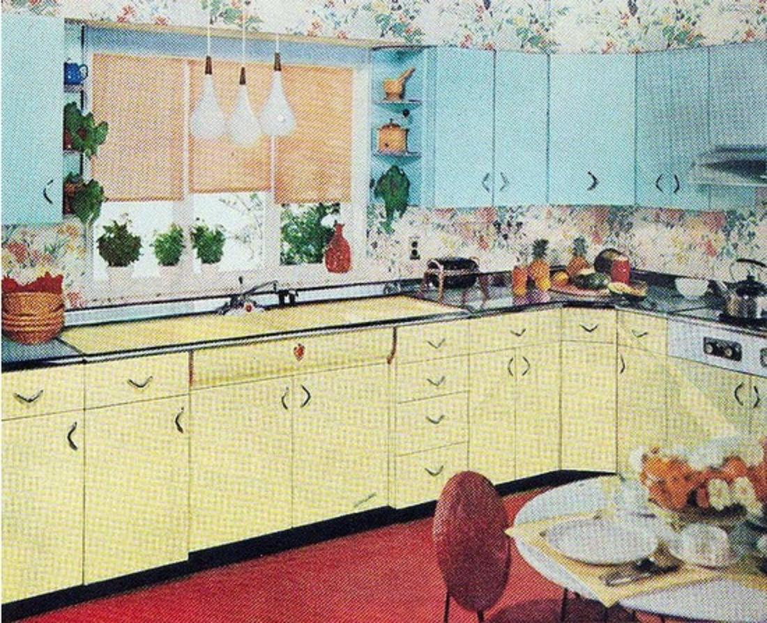 Vintage Kitchens Turquoise And Yellow