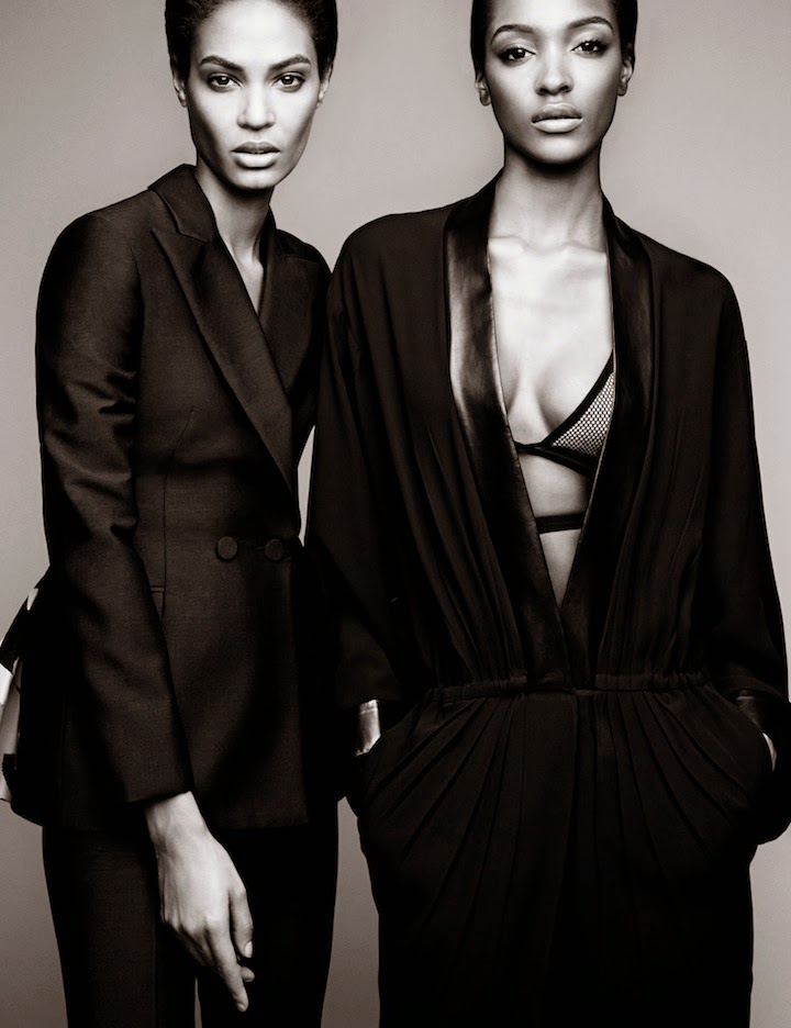 Joan Smalls and Jourdan Dunn by Patrick Demarchelier for Vogue April 2014