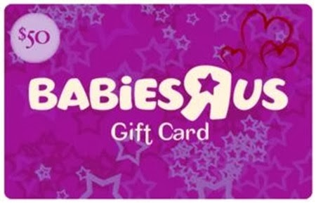 $50 Babies R Us gift card