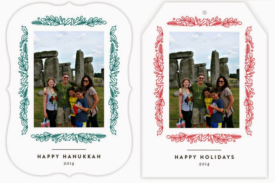 holiday photo cards from Minted