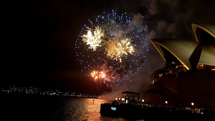 Firewirks over Sydney Opera House