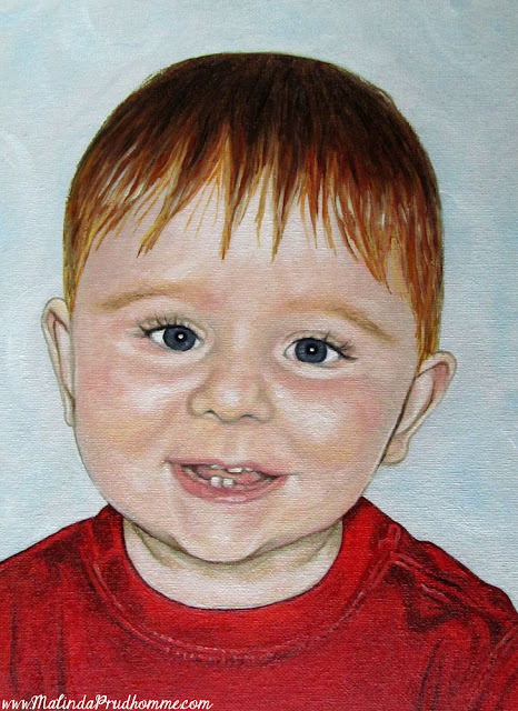 Graeme, baby portrait, child portrait, baby painting, custom portrait, portrait artist, portrait painting