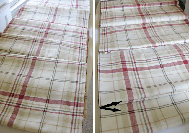 plaid fabric to make curtains longer