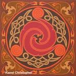 CELTIC SPIRAL 1                          oil on canvas