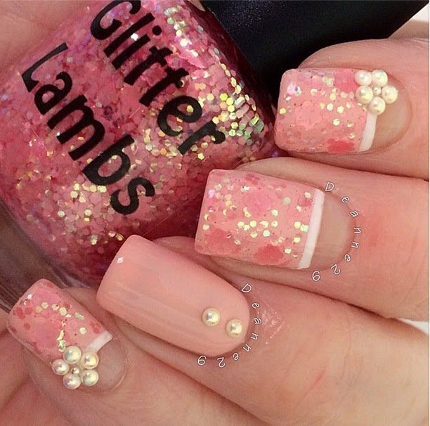 Cotton Candy Glitter Nails: Cotton Candy Fluff Glitter Topper Nail Polish By Glitter Lambs