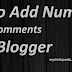 How to Add Numbered Comments in Blogger