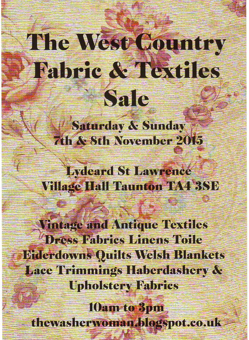 Susan and Elizabeth's West Country Textile Sale