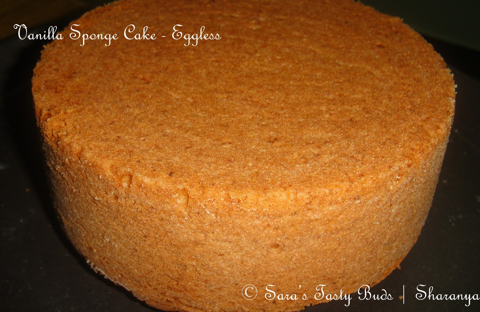 SARA S TASTY BUDS: Eggless Vanilla Sponge Cake