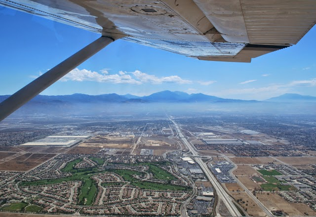 Flying over the Inland Empire in Southern California | Em Then Now When