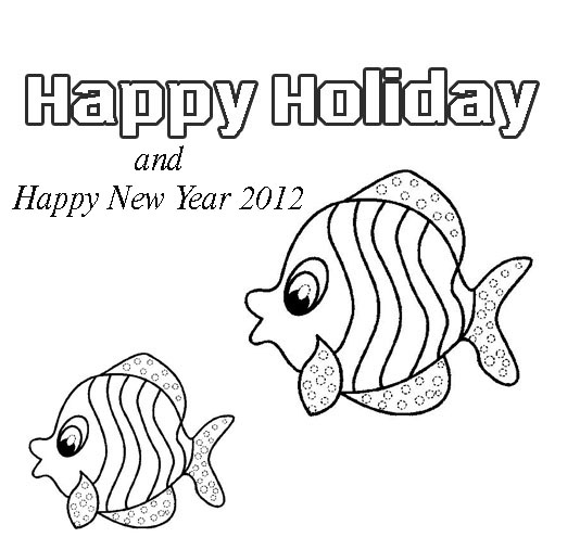 Coloring Pages Of Quot Happy New Year 2012 Quot New Year Animals Coloring Pages
