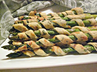 Healthy Asparagus Spiral Puffs