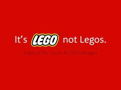 It's LEGO not LEGOS