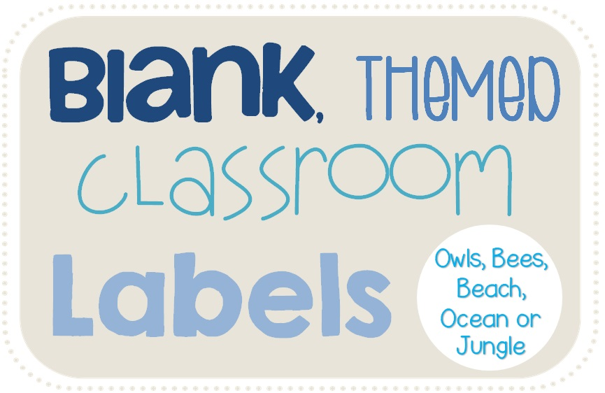 Clever classroom blank themed classroom labels to set up for Room labels