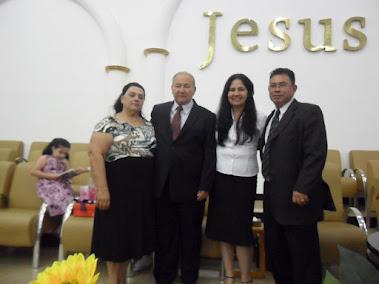 Pr Edson Mello e Pra Cleide Mello, Miss. Eliane Moraes e Pr Airton Moraes
