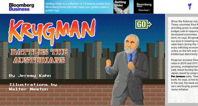 Bloomberg Business' Krugman Battles the Austerians
