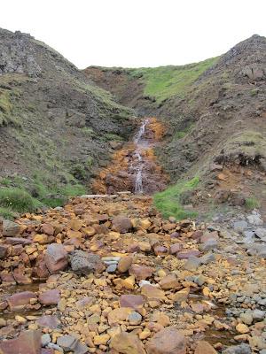Waterfall behind Hvítserkur, Iceland
