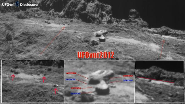 """La sonde Rosetta a photographié une """"Structure Alien"""" mystérieuse sur la surface de la comète 67P"""
