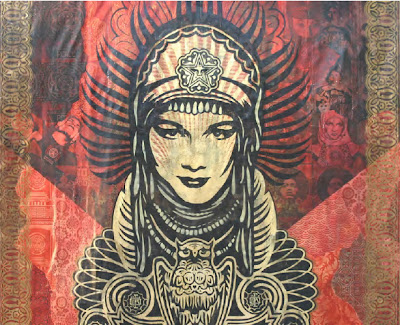 Peace Goddess Mural Canvas - mural canvas - mayan art mural - custom wallpaper murals