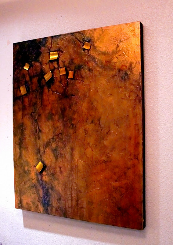 carol nelson fine art blog   u0026quot buried treasure u0026quot  12002  mixed media contemporary metallic abstract
