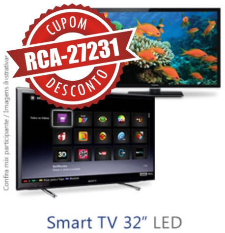 Cupom Efácil - Smart TV LED 32