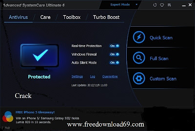 Advanced SystemCare Ultimate 6 crack, Advanced SystemCare Ultimate 6 fullversion, Advanced SystemCare Ultimate 6 full version free download