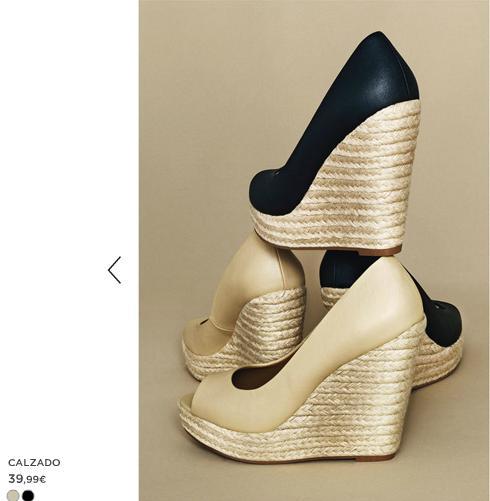Zapatos cuña Mango verano 2012