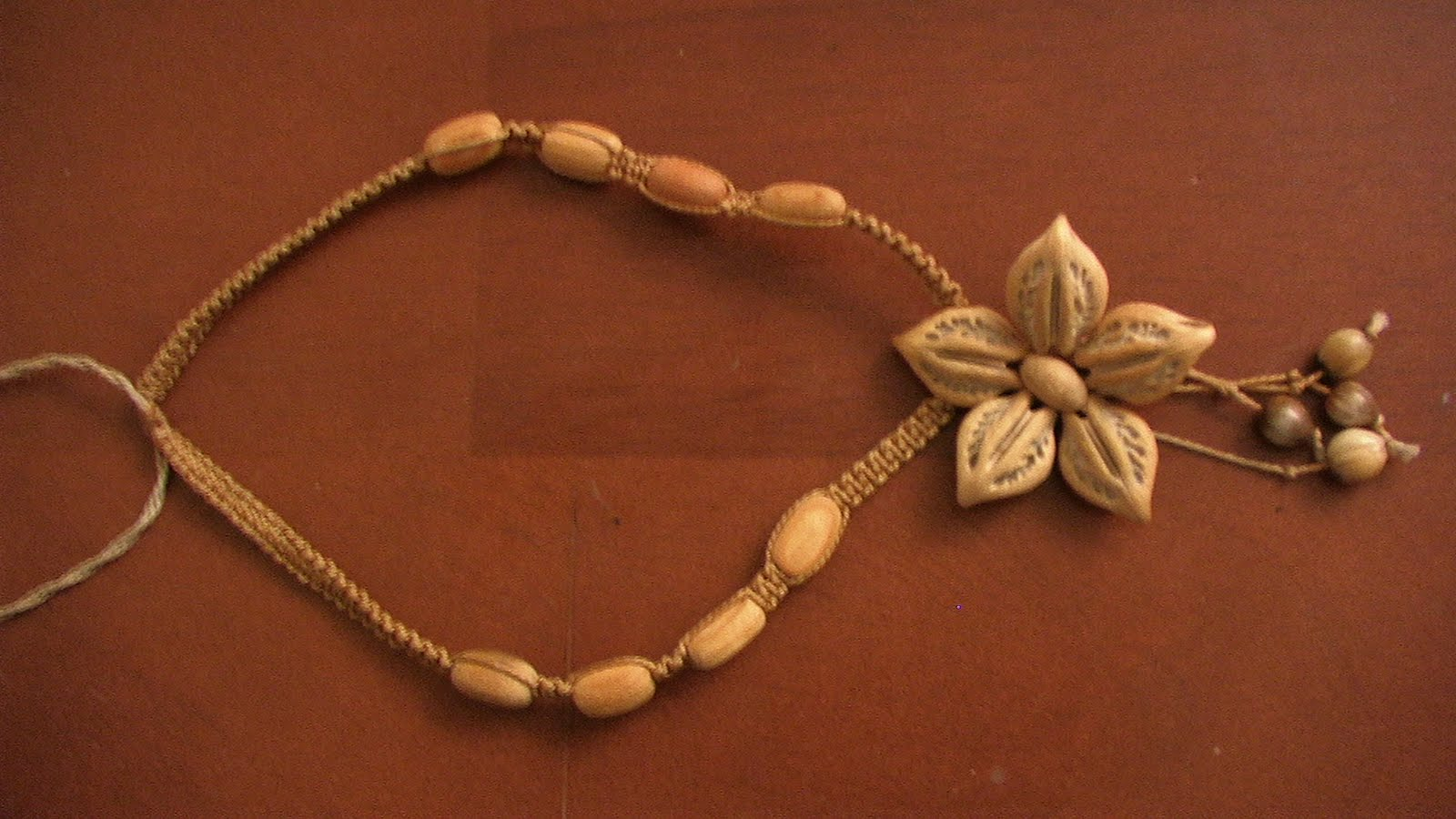 Cuban Flower Necklace Made With Seeds Paper Doll Eve