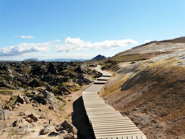 Vulkan Leirhnjúkur im Gebiet Krafla in Island