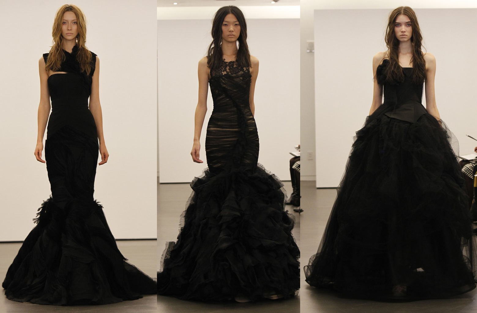 Vera Wang 39 S Black Wedding Dresses That Made Their Debut This Season